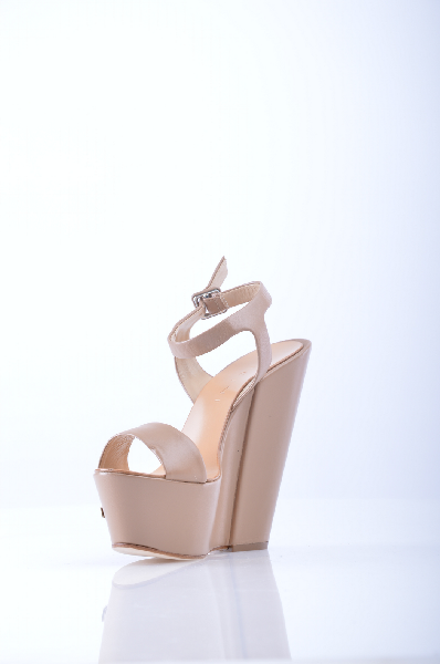 женские босоножки на каблуке vicini, бежевые