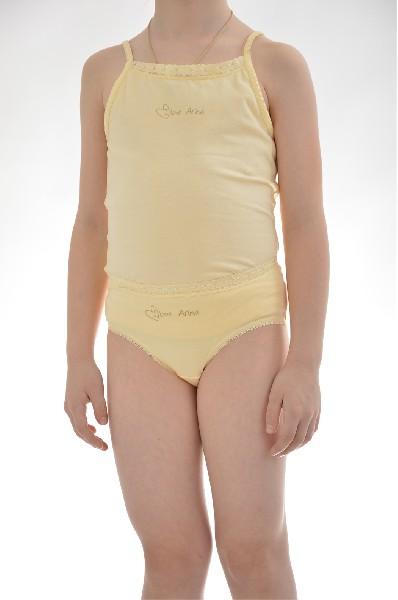 майка arina ballerina для девочки, желтая