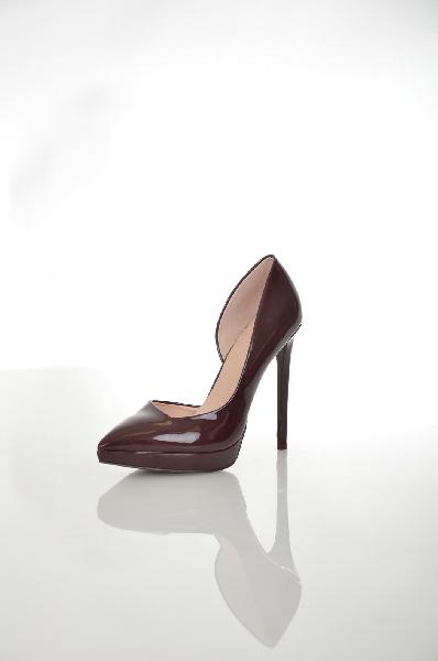 женские туфли на каблуке aldo, бордовые