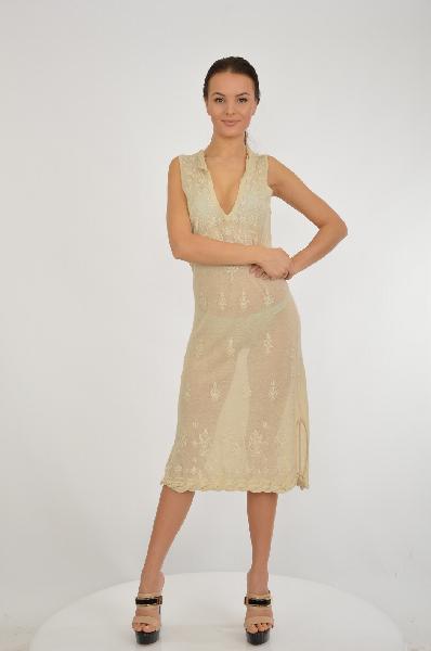 женское платье etincelle, бежевое