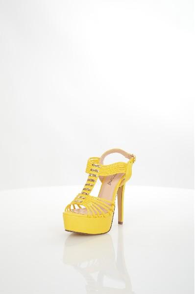 женские босоножки на каблуке tulipano, желтые
