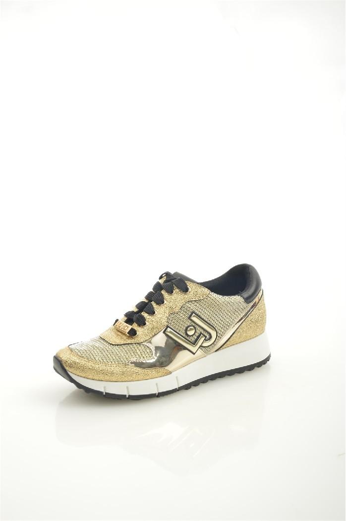 женские кроссовки liu jo, золотые
