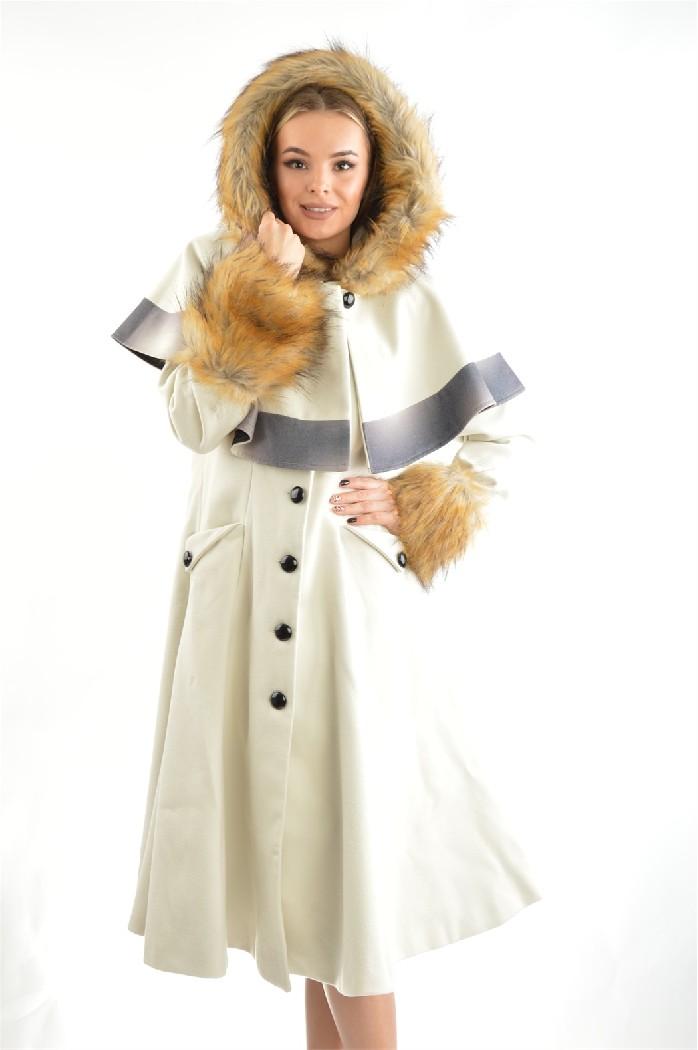 Пальто Moda di Chiara, Белый