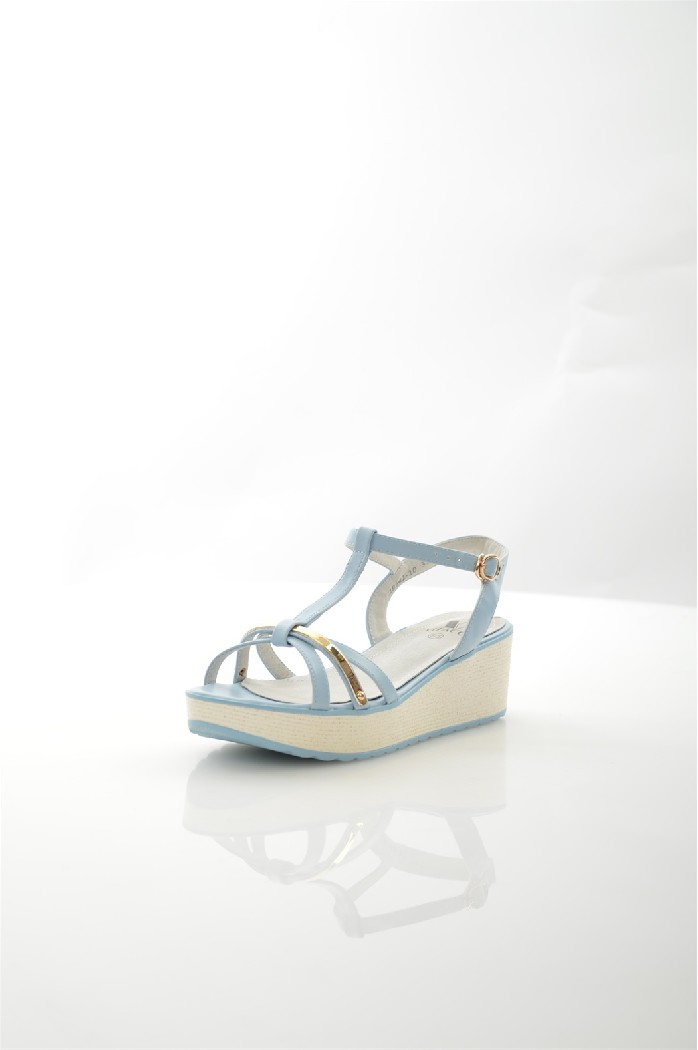 женские босоножки на каблуке vitacci, голубые