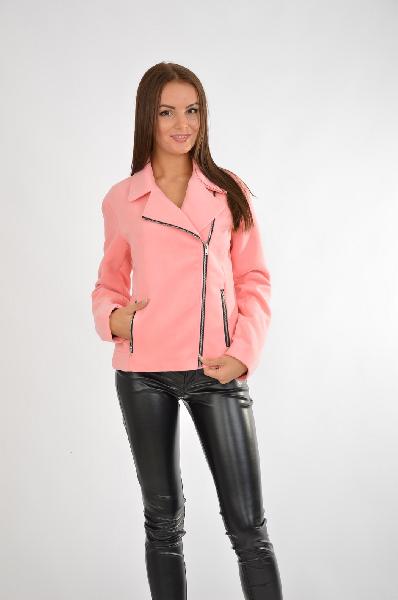 женская куртка people, розовая
