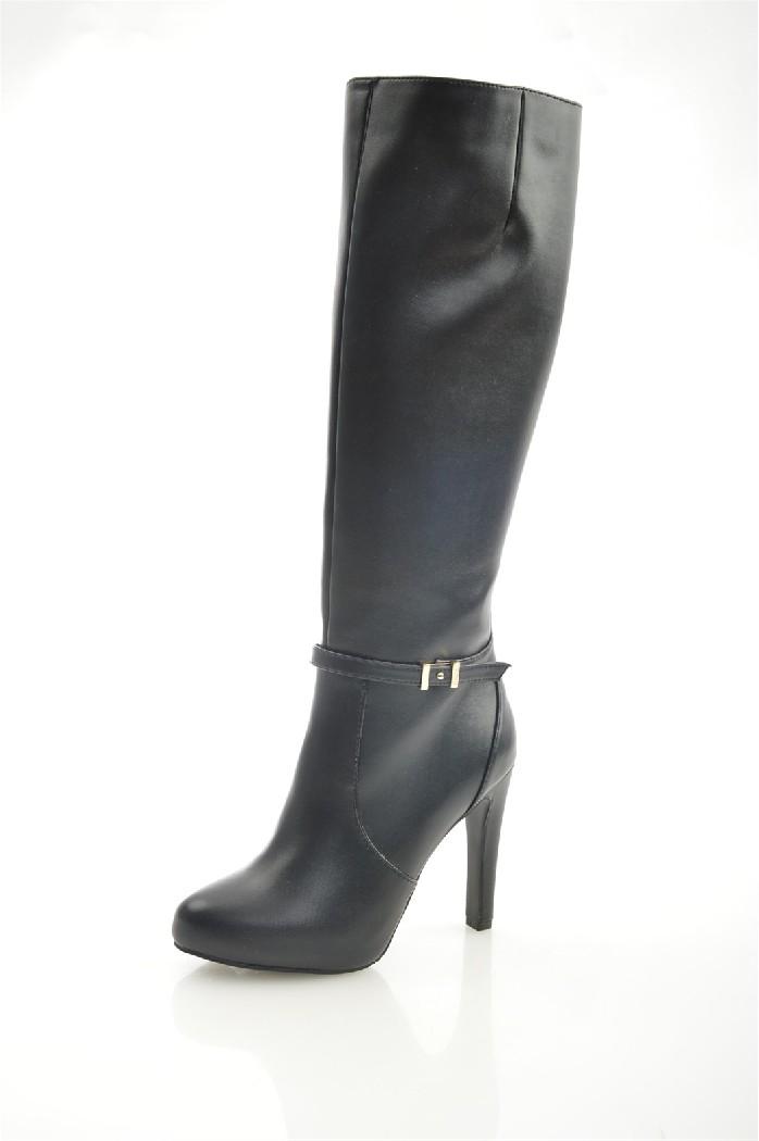 женские сапоги на каблуке gaudi, черные