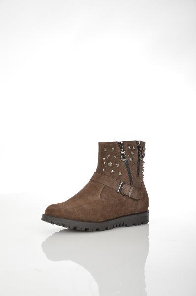 женские ботинки на каблуке makfly, коричневые