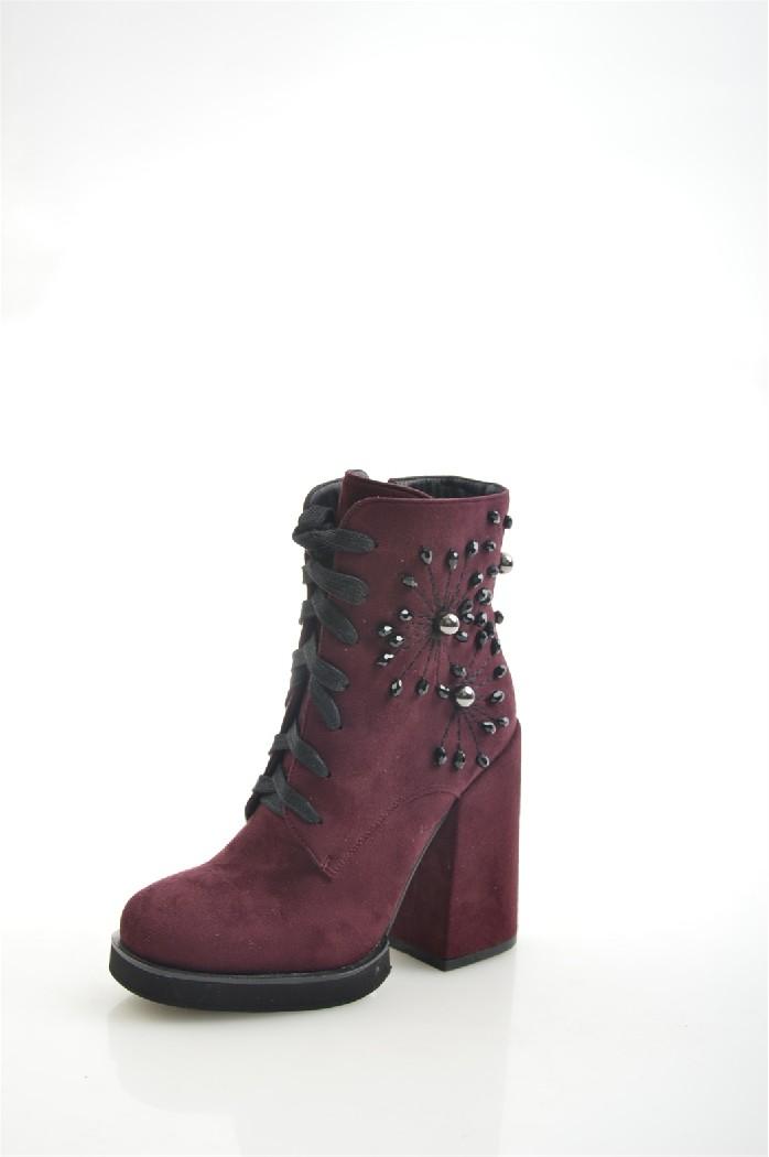 женские ботильоны на каблуке gelsomino, бордовые