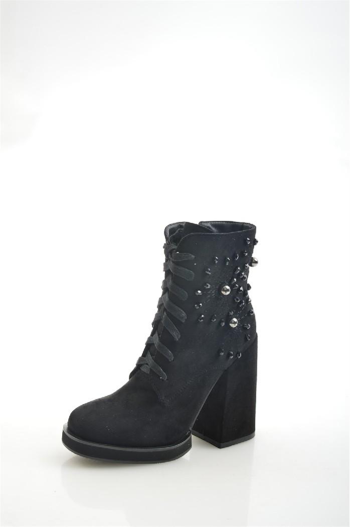 женские ботильоны на каблуке gelsomino, черные