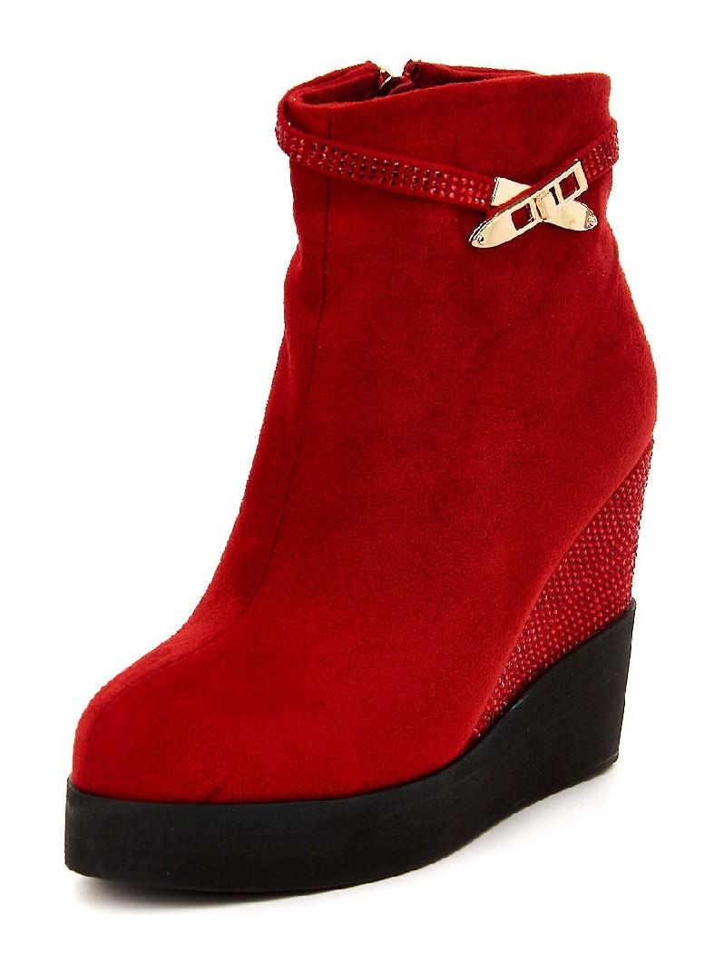 женские ботильоны на каблуке gelsomino, красные