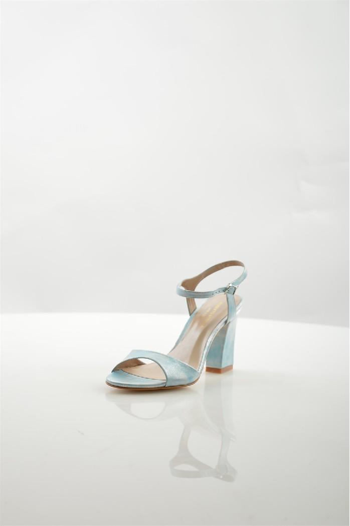 женские босоножки на каблуке roberto botella, голубые