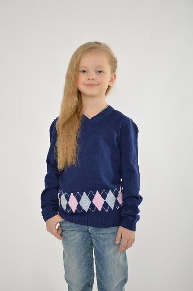 пуловер s'cool для девочки, синий