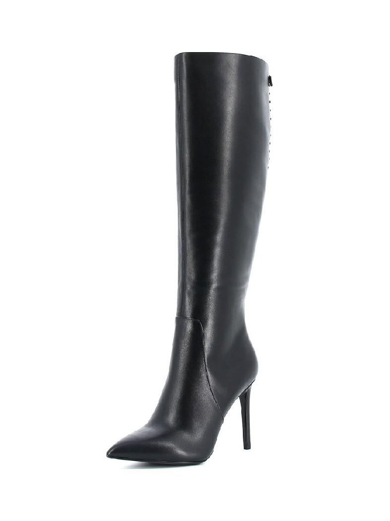 женские сапоги на каблуке paolo conte, черные