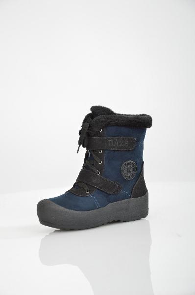 женские ботинки на каблуке daze, синие