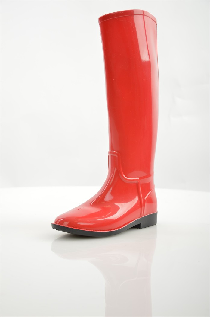женские резиновые сапоги sandra, красные