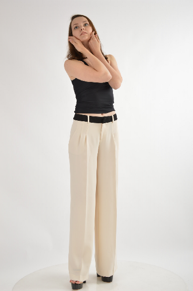 женские брюки клеш guess by marciano, бежевые