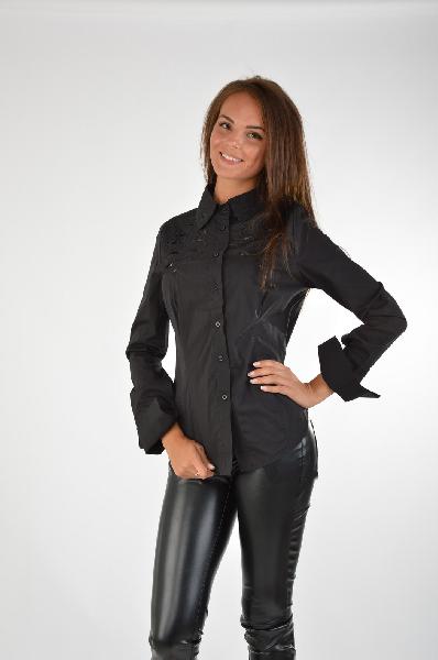 женская блузка just cavalli, черная