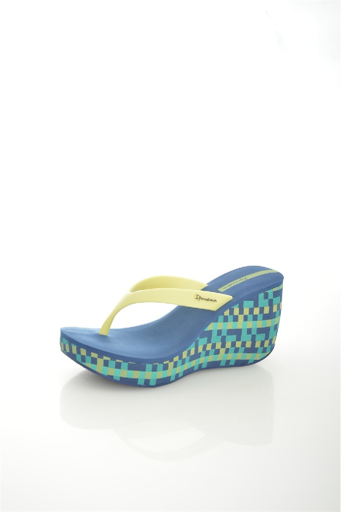 женское сабо на каблуке ipanema, синее