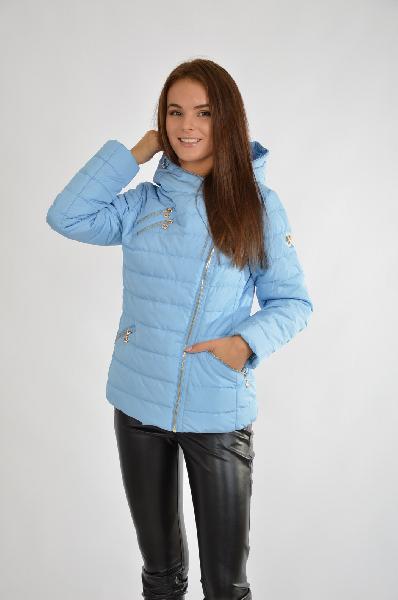 Купить Куртка X'cluSIve, РОССИЯ, Голубой, Полиэстер, ВЕСНА/ОСЕНЬ, Осень-зима