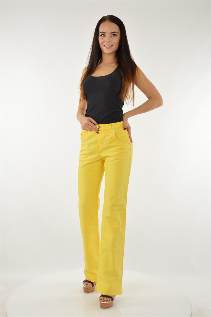 женские джинсы versace, желтые