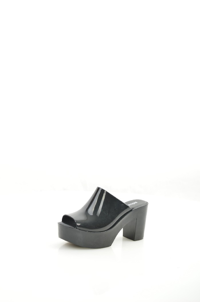 женское сабо на каблуке melissa, черное