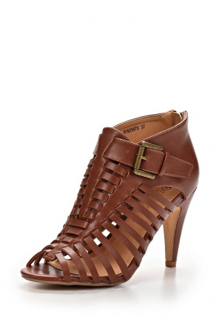 женские босоножки на каблуке t.taccardi for kari, коричневые