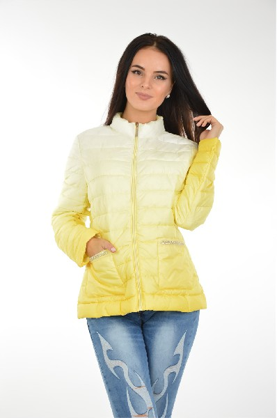 женская куртка b.style, желтая