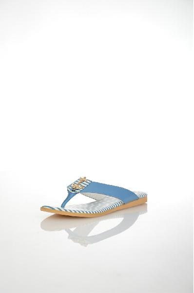 женское сабо на каблуке vitacci, голубое