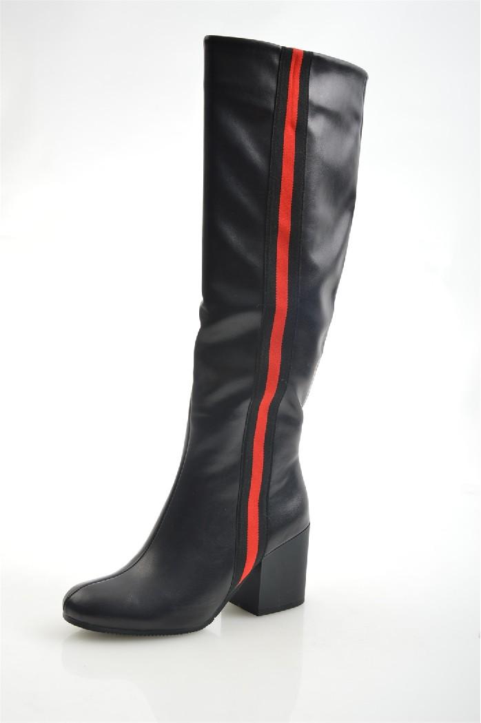 женские сапоги на каблуке wilmar, черные