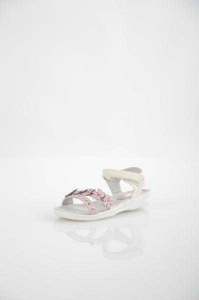 Сандалии MakflyОбувь для девочек<br>Цвет: розовый, молочный<br> <br> Состав: искусственная кожа<br> <br> Симпатичные сандалии для девочек. Модель декорирована аппликациями. Удобная застежка на липучку. Отличная обувь на лето.<br> <br> Высота каблука Маленький, 2.5 см<br> Высота платформы Низкая, 1.0 см<br> Материал верха Искусственная кожа<br> Материал подкладки Кожа<br> Сезон лето<br> Пол Девочки<br> Страна бренда Россия<br><br>Высота каблука: 2.5 см<br>Высота платформы: 1 см<br>Материал: Искусственная кожа<br>Сезон: ЛЕТО<br>Коллекция: Весна-лето<br>Пол: Женский<br>Возраст: Детский<br>Цвет: Розовый<br>Размер RU: 33