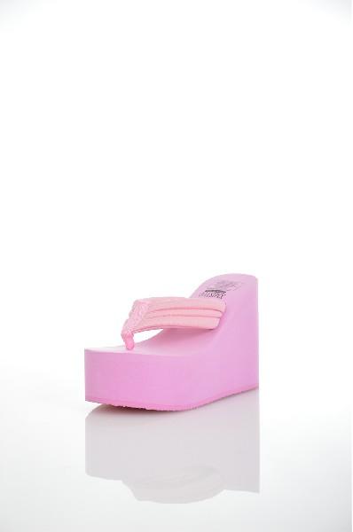 Сабо Your hotel XMISTUOЖенская обувь<br>Модный элемент Танкетка, платформа, платформа, романского стиля<br> Технологии ботинок Клееная обувь<br> Рисунок Однотонный цвет<br> Назначение обуви На каждый день<br> Материал подошвы Резина<br> Шить информация Ткань<br> Верхний материал Широкий спектр материала сплайсинга<br> Фасон Сланцы<br> Марка Your hotel xmistuo/shrimp<br> Стиль нижней Танкетка<br> Вслед за высокие Высокий каблук (более 8 см)<br><br>Высота каблука: 8 см<br>Материал: Синтетический материал<br>Сезон: ЛЕТО<br>Коллекция: Весна-лето<br>Пол: Женский<br>Возраст: Взрослый<br>Цвет: Розовый<br>Размер RU: 38