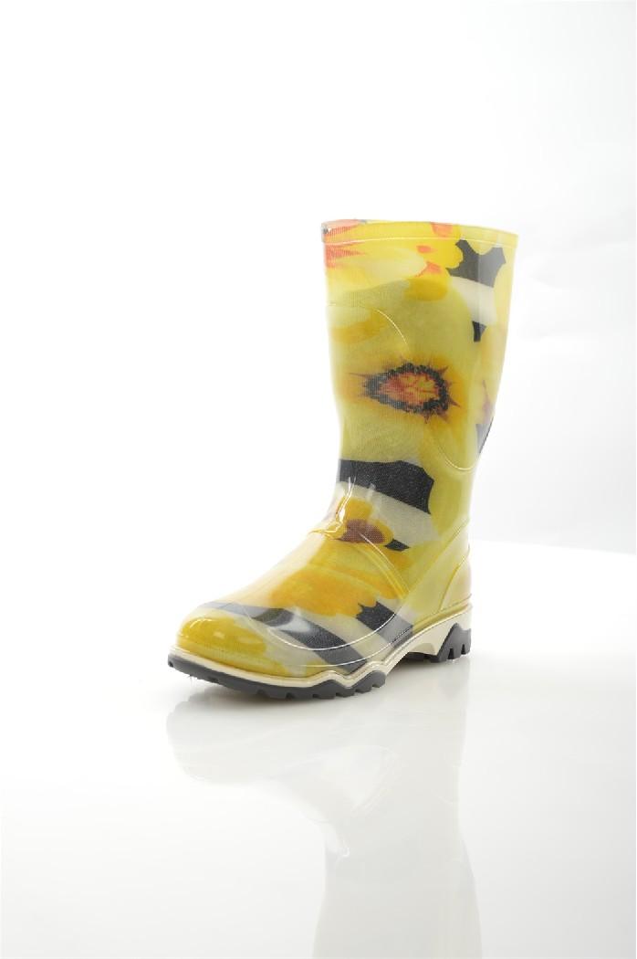 Резиновые сапоги ДюнаЖенская обувь<br>Цвет: желтый<br> Состав: ПВХ<br> <br> Высота платформы: Низкая: 1.5 см<br> Материал верха: ПВХ<br> Материал подошвы: ПВХ: 100 %<br> Форма мыска: Закругленный мысок<br> Декоративные элементы: принт<br> Голенище: Высота голенища: 24.5 см; Обхват голенища: 40 см<br> Сезон: демисезон<br> <br> Страна бренда: Россия<br> Страна производитель: Россия<br><br>Высота платформы: 1.5 см<br>Объем голени: 40 см<br>Высота голенища / задника: 24 см<br>Материал: ПВХ<br>Сезон: ВЕСНА/ОСЕНЬ<br>Коллекция: Весна-лето<br>Пол: Женский<br>Возраст: Взрослый<br>Цвет: Желтый<br>Размер RU: 39
