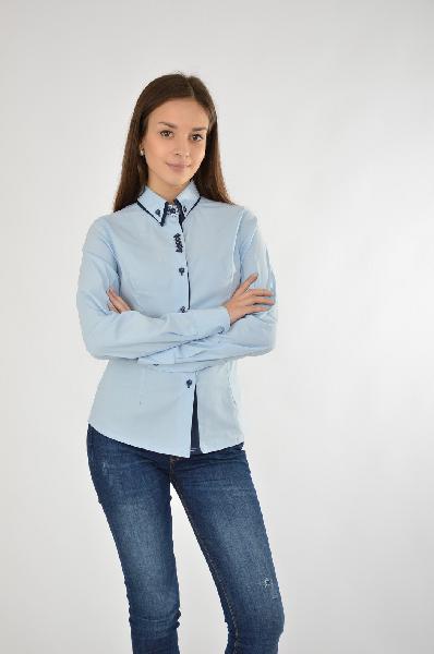 Рубашка MoeЖенская одежда<br>MOE – одежда для ярких и независимых женщин, обладающих исключительным вкусом. MOE – это одежда, которую хочется носить. В актуальной коллекции представлены разнообразные платья, юбки, туники, топы, брюки модного силуэта, а также свитера и свитшоты из качественных натуральных материалов.<br> <br> Цвет: голубой<br> Состав: 95% полиэстер 5% спандекс<br> Особенности: стильная и приталенная рубашка с отложным воротником.<br> Страна: Германия<br><br>Материал: Полиэстер<br>Сезон: ЛЕТО<br>Коллекция: Весна-лето<br>Пол: Женский<br>Возраст: Взрослый<br>Цвет: Голубой<br>Размер INT: M