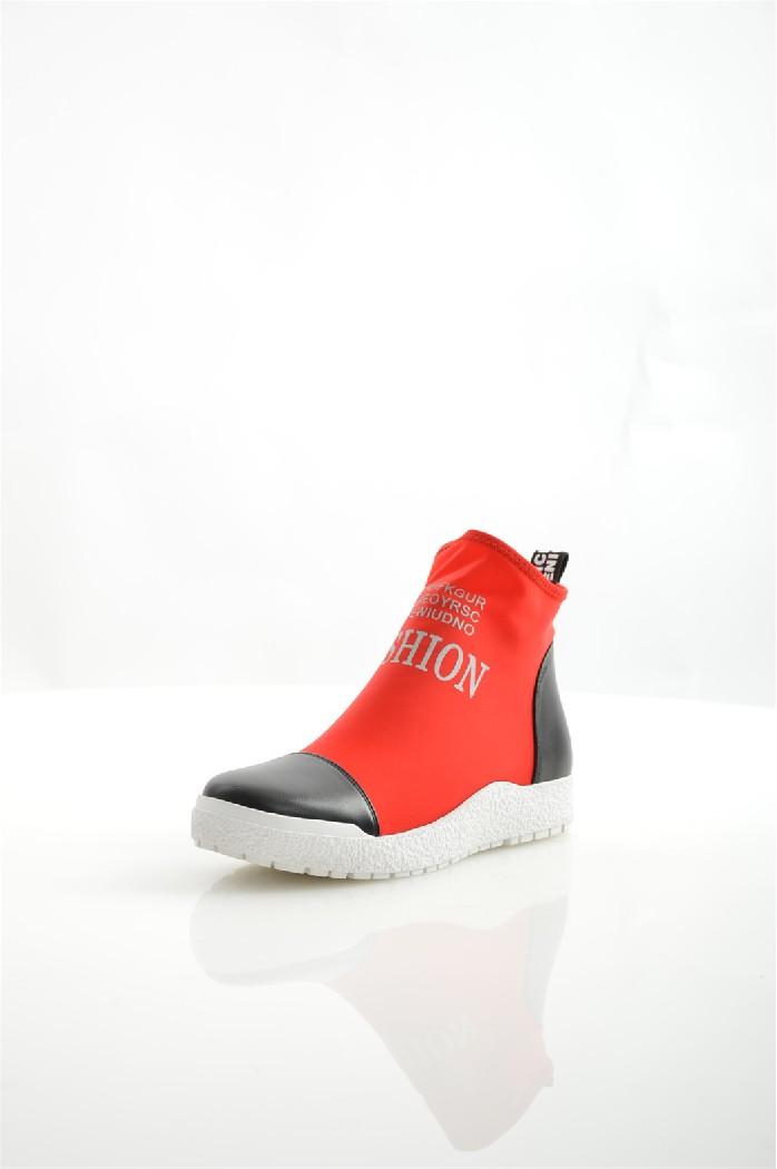 Ботинки ELSIЖенская обувь<br>Ботинки Elsi выполнены из яркого эластичного текстиля и искусственной гладкой кожи. <br> <br> Материал верха: искусственная кожа, текстиль<br> Внутренний материал: текстиль<br> Материал стельки: искусственная кожа<br> Материал подошвы: резина<br> Высота голенища / за...<br><br>Высота каблука: Без каблука<br>Высота голенища / задника: 10 см<br>Материал: Искусственная кожа<br>Сезон: ВЕСНА/ОСЕНЬ<br>Коллекция: (Справочник &quot;Номенклатура&quot; (Общие)): Весна-лето<br>Пол: Женский<br>Возраст: Взрослый<br>Цвет: Красный<br>Размер RU: 38