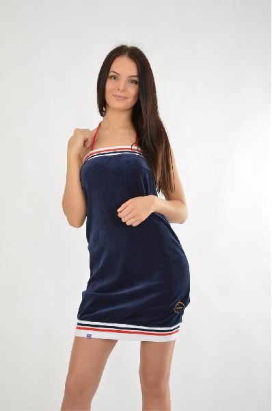 Платье NicClubЖенская одежда<br>Очаровательное платье из велюра на тонкой бретель-петле. Оформлено по нижнему краю трикотажной вставкой. Отличный повседневный вариант.<br> <br> Цвет: темно-синий, белый<br> <br> Состав: хлопок 80%,полиэстер 20%<br> <br> Длина изделия Мини: 68 см<br> Вид рукава Без рукавов<br> Сезон лето<br> Пол Женский<br> Страна бренда Испания<br> Страна производитель Италия<br><br>Материал: Хлопок<br>Сезон: МУЛЬТИ<br>Коллекция: Весна-лето<br>Пол: Женский<br>Возраст: Взрослый<br>Цвет: Синий<br>Размер INT: S