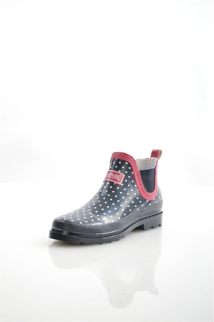 Резиновые сапоги REGATTAЖенская обувь<br>Цвет: темно-синий, фиолетовый<br> Состав: резина 95%,эластан 5%<br> <br> Материал подкладки обуви: натуральная ткань; Хлопок<br> Голенище: Обхват голенища: 34 см; Высота голенища: 30 см<br> Габариты предмета (см): высота каблука: 1 см; высота платформы: 2 см; высота подошвы: 1 см<br> Материал подошвы обуви: резина<br> Материал стельки: искусственный материал<br> Сезон: демисезон<br> <br> Страна: Соединенное Королевство<br><br>Высота каблука: 1 см<br>Высота платформы: 2 см<br>Объем голени: 34 см<br>Высота голенища / задника: 30 см<br>Материал: Резина<br>Сезон: ВЕСНА/ОСЕНЬ<br>Коллекция: Весна-лето<br>Пол: Женский<br>Возраст: Взрослый<br>Цвет: Черный<br>Размер RU: 38