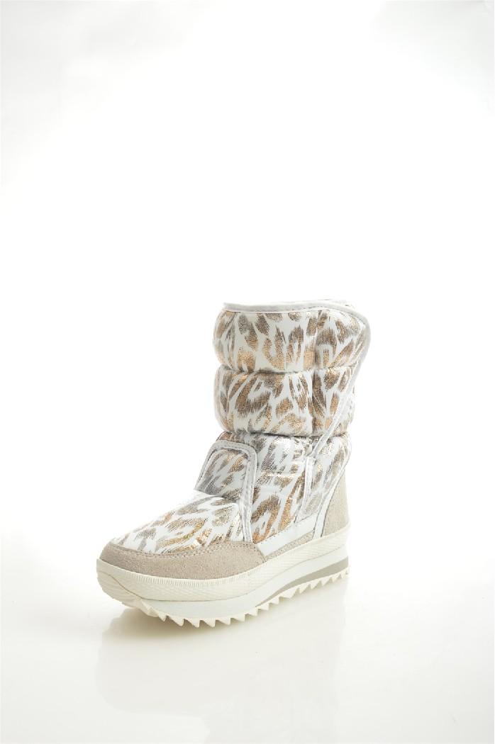 Дутики CrosbyЖенская обувь<br>Цвет: белый, золотистый<br> Состав: нейлон, натуральная замша<br> <br> Вид застежки: Липучка<br> Материал подкладки обуви: Шерсть; Искусственный мех<br> Голенище: Обхват голенища: 30 см; Высота голенища: 14 см<br> Материал подошвы обуви: ЭВА (этиленвинилацетат); резина<br> Материал стельки: шерсть<br> Вид каблука: без каблука<br> Сезон: зима<br> <br> Страна бренда: Великобритания<br><br>Объем голени: 30 см<br>Высота голенища / задника: 14 см<br>Материал: Искусственная кожа<br>Сезон: ЗИМА<br>Коллекция: Осень-зима<br>Пол: Женский<br>Возраст: Взрослый<br>Цвет: Белый<br>Размер RU: 37
