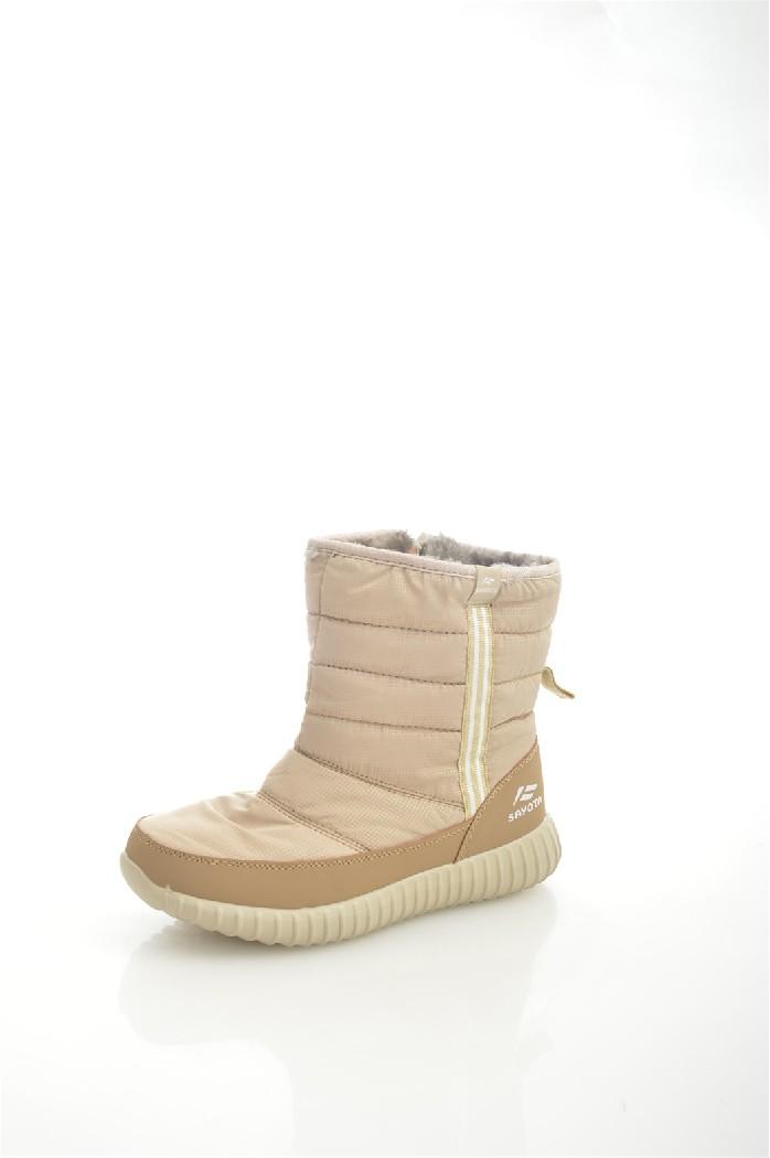 Дутики SAYOTAЖенская обувь<br>Цвет: бежевый<br> Состав: текстиль 100%<br> <br> Вид застежки: Молния<br> Материал подкладки обуви: искусственный мех<br> Голенище: Высота голенища: 20 см; Обхват голенища: 30 см<br> Материал подошвы обуви: ТПР<br> Материал стельки: искусственный мех<br> Форма мыска: круглый<br> Вид мыска: закрытый<br> Высота подошвы: 2 см<br> Сезон: зима<br> <br> Страна: КНР<br><br>Высота платформы: 2 см<br>Объем голени: 30 см<br>Высота голенища / задника: 20 см<br>Материал: Текстиль<br>Сезон: ЗИМА<br>Коллекция: Осень-зима<br>Пол: Женский<br>Возраст: Взрослый<br>Цвет: Бежевый<br>Размер RU: 38