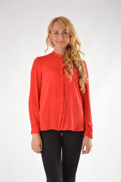 Рубашка MangoЖенская одежда<br>Состав: 100% Полиэстер<br>Страна: Испания<br><br>Материал: Полиэстер<br>Сезон: ЛЕТО<br>Коллекция: Весна-лето<br>Пол: Женский<br>Возраст: Взрослый<br>Цвет: Красный<br>Размер INT: S