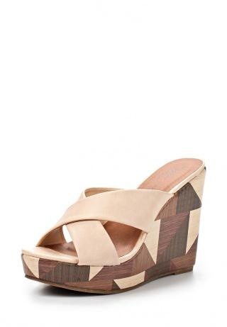 Сабо Marie ColletЖенская обувь<br>Детали: широкие перекрестные ремешки, высокая танкетка оформлена геометрическим принтом. <br> Материал верха искусственная кожа <br> Внутренний материал искусственная кожа <br> Материал стельки искусственная кожа <br> Материал подошвы резина <br> Высота каблука: 12 см <br> Высота платформы: 3 см. <br><br>Страна: Франция<br><br>Высота каблука: 12 см<br>Высота платформы: 3 см<br>Материал: Искусственная кожа<br>Сезон: ЛЕТО<br>Коллекция: Весна-лето<br>Пол: Женский<br>Возраст: Взрослый<br>Цвет: Бежевый<br>Размер RU: 37