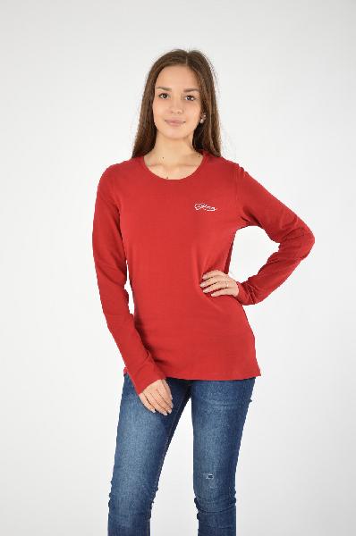 Джемпер GalvanniЖенская одежда<br>Модный джемпер в бордовом цвете. Круглый вырез, слегла удлиненный формат, изделие выполнено из тонкой ткани. Можно сочетать с джинсами либо брюками. На лицевой части стразами выложено название бренда.<br>Цвет: красный<br> Состав: 92% хлопок, 8% эластан<br> Особ...<br><br>Материал: Хлопок<br>Сезон: МУЛЬТИ<br>Коллекция: (Справочник &quot;Номенклатура&quot; (Общие)): Осень-зима<br>Пол: Женский<br>Возраст: Взрослый<br>Цвет: Красный<br>Размер INT: L
