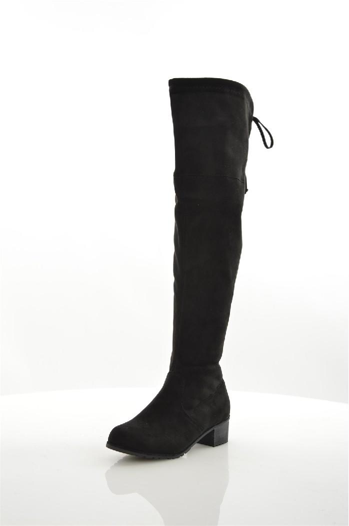 Ботфорты Sweet ShoesЖенская обувь<br>Материал верха: искусственная замша<br> Внутренний материал: байка<br> Материал стельки: искусственная кожа<br> Материал подошвы: искусственный материал<br> Высота голенища / задника: 49 см<br> Обхват голенища: 38 см<br> Высота каблука: 4.5 см<br> Тип каблука: Стандартный<br> Застежка: на молнии<br> Цвет: черный<br> Сезон: Демисезон<br> Стиль: Повседневный, Сексуальный<br> Коллекция: Осень-зима<br><br>Высота каблука: 4.5 см<br>Объем голени: 38 см<br>Высота голенища / задника: 49 см<br>Материал: Искусственная замша<br>Сезон: ВЕСНА/ОСЕНЬ<br>Коллекция: Осень-зима<br>Пол: Женский<br>Возраст: Взрослый<br>Цвет: Черный<br>Размер RU: 38