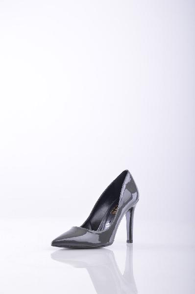 D?MINI ТуфлиЖенская обувь<br>эффект лакировки, без аппликаций, одноцветное изделие, узкий носок, резиновая подошва с тиснением, каблук-стилет.<br> Высота каблука: 10 см<br>Страна: Франция<br><br>Высота каблука: 10 см<br>Материал: Искусственная кожа<br>Коллекция: Весна-лето<br>Пол: Женский<br>Возраст: Взрослый<br>Цвет: Серый<br>Размер RU: 37