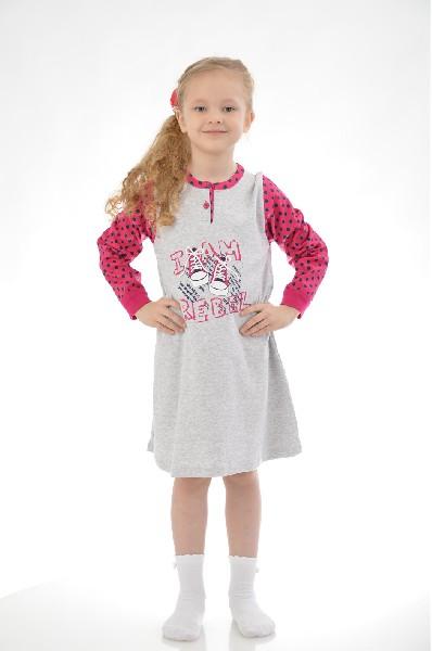 Ночная сорочка BAGIGIОдежда для девочек<br>Цвет: серый меланж, темно-синий, бордовый<br> <br> Состав: хлопок 100%<br> <br> Ночная сорочка из мягкого, натурального трикотажа. Модель свободного покроя с длинными рукавами. Оформлена рисунком. Горловина с мягкой обтачкой. Ночная сорочка подарит комфортный отдых и спокойный сон.<br> <br> Вырез горловины Округлый вырез<br> Длина рукава Длинные, 54.0 см<br> Габариты предметов Длина, 79.5 см<br> Фактура материала Трикотажный<br> Особенности ткани Мягкая<br> Сезон круглогодичный<br> Пол Девочки<br> Страна Италия<br><br>Материал: Хлопок<br>Сезон: МУЛЬТИ<br>Коллекция: Весна-лето<br>Пол: Женский<br>Возраст: Детский<br>Цвет: Разноцветный<br>Размер Height: 122