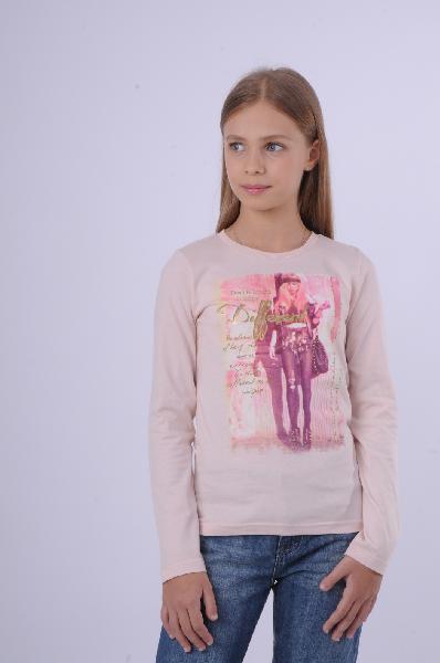 Лонгслив EmoiОдежда для девочек<br>Лонгслив Emoi розового цвета выполнен из мягкого натурального хлопка. Детали: круглый вырез, фотопринт.<br> <br> Состав Хлопок - 100%<br> Длина 50 см<br> Длина рукава 46 см<br> Цвет розовый<br> Сезон Мульти<br> Коллекция Осень-зима<br> Страна: Бельгия<br><br>Материал: Хлопок<br>Сезон: ВЕСНА/ОСЕНЬ<br>Коллекция: Осень-зима<br>Пол: Женский<br>Возраст: Детский<br>Цвет: Розовый<br>Размер Height: 140