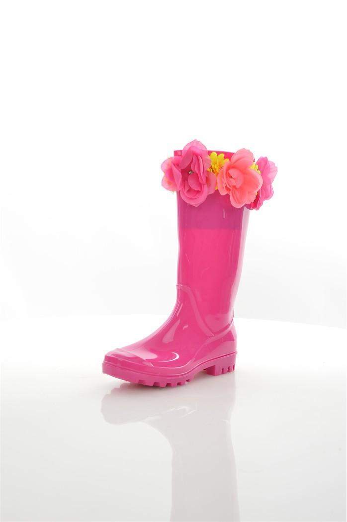 Резиновые сапоги GARLANDЖенская обувь<br>Стелька: 100% ткань. Подошва: 100% другие материалы. Верх: 100% резина<br> <br> Гладкий глянцевый верх<br> Без застежки<br> Отделка цветочками с эффектом 3D<br> Круглый нос<br> Гибкая рифленая подошва<br> Протирать мягкой тканью<br> Страна: Великобритания<br><br>Высота каблука: 2 см<br>Материал: Резина<br>Сезон: ВЕСНА/ОСЕНЬ<br>Коллекция: Осень-зима<br>Пол: Женский<br>Возраст: Взрослый<br>Цвет: Розовый<br>Размер RU: 37