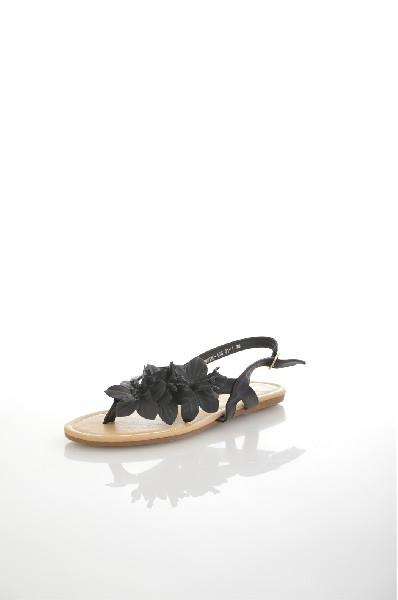 Сандалии AmazongaЖенская обувь<br>Цвет: черный<br> Состав: искусственная кожа<br> <br> Декоративные элементы: цветы<br> Высота платформы: Низкая: 0.5 см<br> Материал верха: Искусственная кожа<br> Материал стельки: Искусственная кожа: 100 %<br> Материал подошвы: Резина: 100 %<br> Материал подкладки: Искусственная кожа: 100 %; искусственная кожа: 100 %<br> Форма мыска: Закругленный мысок<br> Вид застежки: Пряжка<br> Форма каблука: Венский каблук<br> Особенность материала верха: Матовый<br> Высота каблука: Высота: 1 см<br> Материал подошвы обуви: резина: 100 %<br> Материал стельки обуви: искусственная кожа: 100 %<br> Сезон: лето<br> Пол: Женский<br> Страна: Россия<br><br>Высота каблука: 1 см<br>Высота платформы: 0.5 см<br>Материал: Искусственная кожа<br>Сезон: ЛЕТО<br>Коллекция: Весна-лето<br>Пол: Женский<br>Возраст: Взрослый<br>Цвет: Черный<br>Размер RU: 38