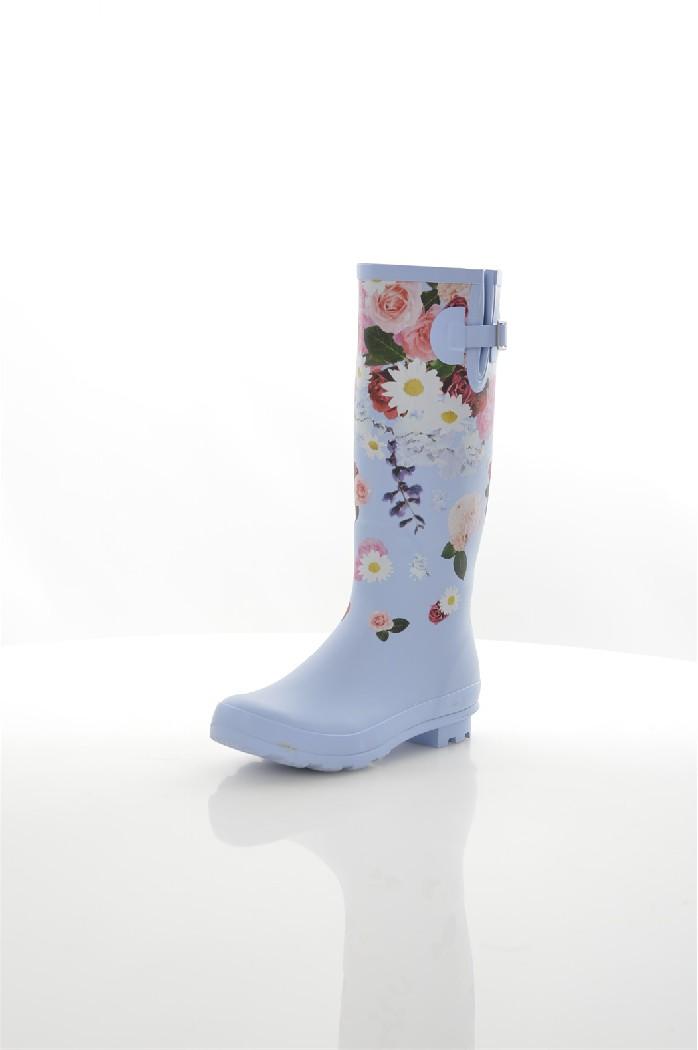 Резиновые сапоги GARDENЖенская обувь<br>Стелька: 100% ткань. Подошва: 100% другие материалы. Верх: 100% резина<br> <br> Верх из ткани<br> Пряжки по бокам<br> Цветочный рисунок<br> Без застежки<br> Круглый нос<br> Низкий каблук (2 см)<br> Загрязнения удалять мягкой тканевой салфеткой<br> Страна: Великобритания<br><br>Высота каблука: 2 см<br>Материал: Резина<br>Сезон: ВЕСНА/ОСЕНЬ<br>Коллекция: (Справочник &quot;Номенклатура&quot; (Общие)): Осень-зима<br>Пол: Женский<br>Возраст: Взрослый<br>Цвет: Голубой<br>Размер RU: 37