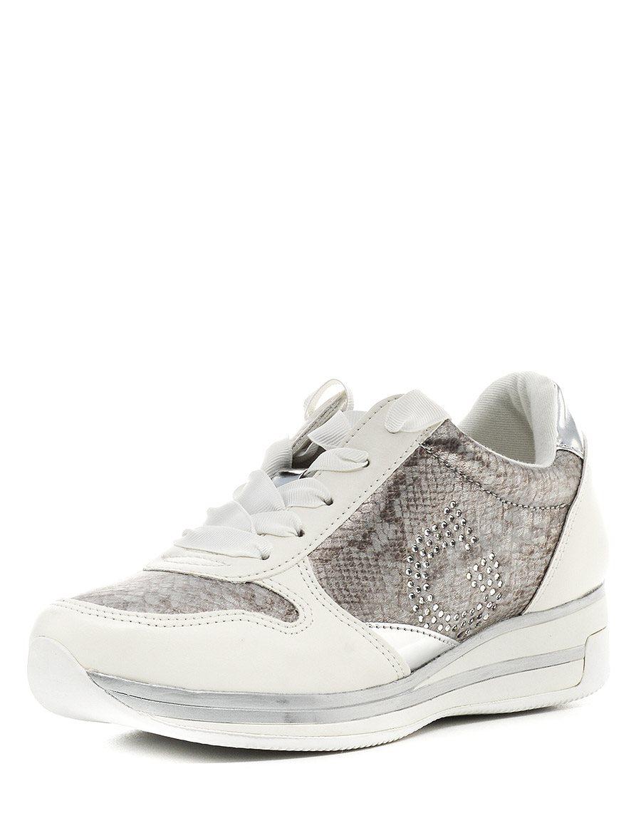 Кроссовки GUESSЖенская обувь<br>Замечательные удобные кроссовки. Модель с округлым мыском на шнуровке, обеспечивающей надежную фиксацию стопы. Оригинальный комбинированный дизайн. <br>Практичная подошва, обеспечит стопе максимальную свободу движений. <br>Стильные кроссовки - идеальная обувь...<br><br>Материал: Искусственная кожа<br>Сезон: ЛЕТО<br>Коллекция: (Справочник &quot;Номенклатура&quot; (Общие)): Весна-лето<br>Пол: Женский<br>Возраст: Взрослый<br>Цвет: Белый<br>Размер RU: 37