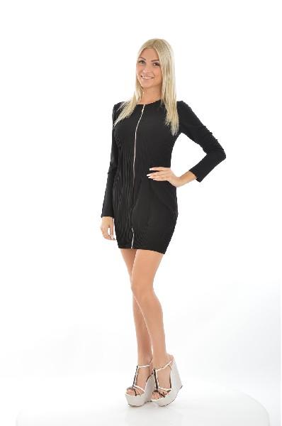 Туника LAUNDRY by SHELLIЖенская одежда<br>Дерзкое платье на молнии в черном цвете. Длина мини эффектно подчеркнет длинные ноги, визуально вытянет силуэт. Модель полностью прилегает к телу, за счет состава хорошо тянется и комфортна в повседневной носке.<br>Материал: 96% Полиэстер, 4% Спандекс<br> Стр...<br><br>Материал: Полиэстер<br>Сезон: МУЛЬТИ<br>Коллекция: (Справочник &quot;Номенклатура&quot; (Общие)): Весна-лето<br>Пол: Женский<br>Возраст: Взрослый<br>Цвет: Черный<br>Размер INT: M